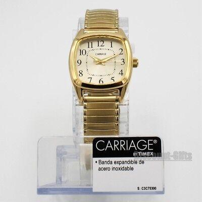 - New Timex Womens Analog Gold-Tone Watch Steel Expansion Bracelet CC3C75300