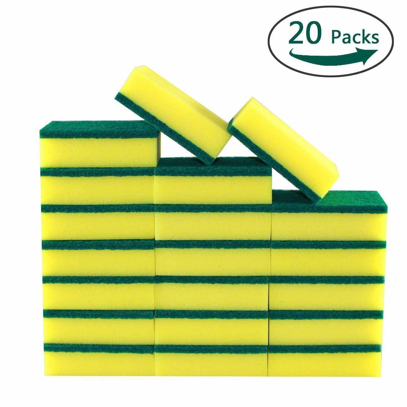 Nuvalu Multi-Use Cleaning Sponges Scrub - Non-Scratch Eraser Sponge - 20 Pack