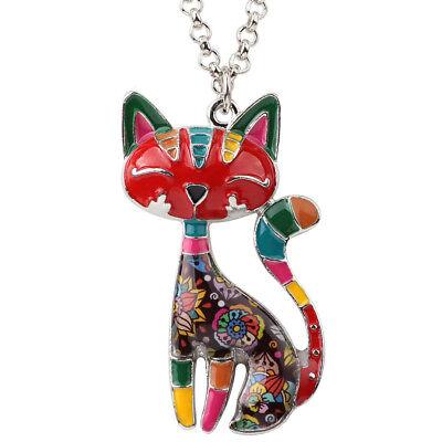 Enamel Alloy Cute Cat Necklace Pendant Choker For Women Kids New Fashion Jewelry