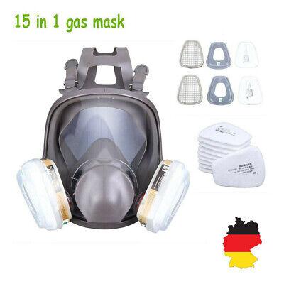 15 In 1 Staubmaske 6800 Lackiermaske Atemschutz Halbmaske Gasmaske mit 2 Filter