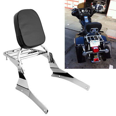 Detachable Sissy Bar Backrest+Luggage rack For Suzuki Vl400 C800 C / C50 05-2011