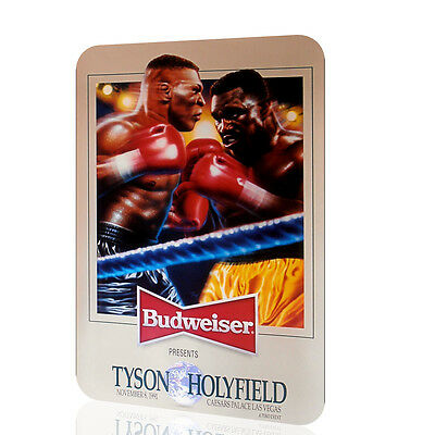 METAL SIGN Mike Tyson Evander Holyfield BEER Budweiser Poster Classic Boxing