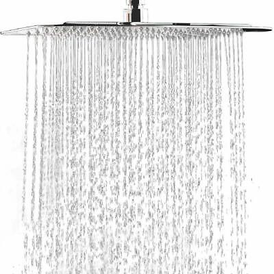 Chrome 16  Inch Square Stainless Steel Shower Head -Rainfall Showerhead