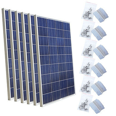 600W Solar Panel Kit: 6 x 100W with Level Kit for Build 12V/24V Solar System