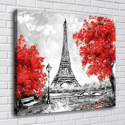 Paris Eiffel Tower Home Decor Room HD Canvas Print Picture Wall Art Painting ()