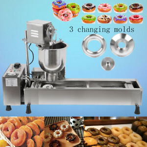 Heavy Duty Commercial Automatic Donut Cookies Fryer Maker Making Machine 3 Molds
