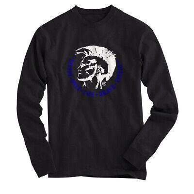 Diesel Trik Mohican Mohawk - T Shirt Long Sleeves Black All Size