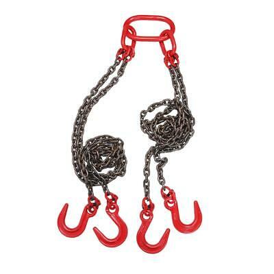 5FT Chain Sling with 4 Legs 6 Ton Capacity Lever Chain Block Lifting Rigging