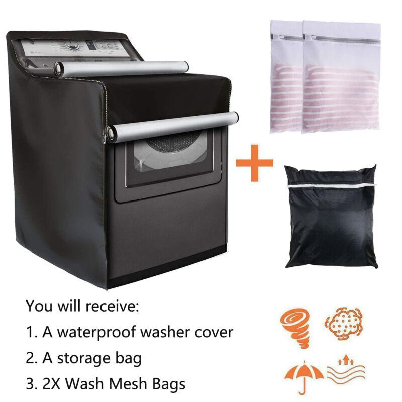 "Washing Machine Cover Laundry Dryer Protect  Waterproof Sunscreen Dustproof 40""H"