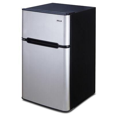 New Concise 3.2 Cu Ft Fridge Mini Dorm Office Refrigerator Small Freezer Cooler