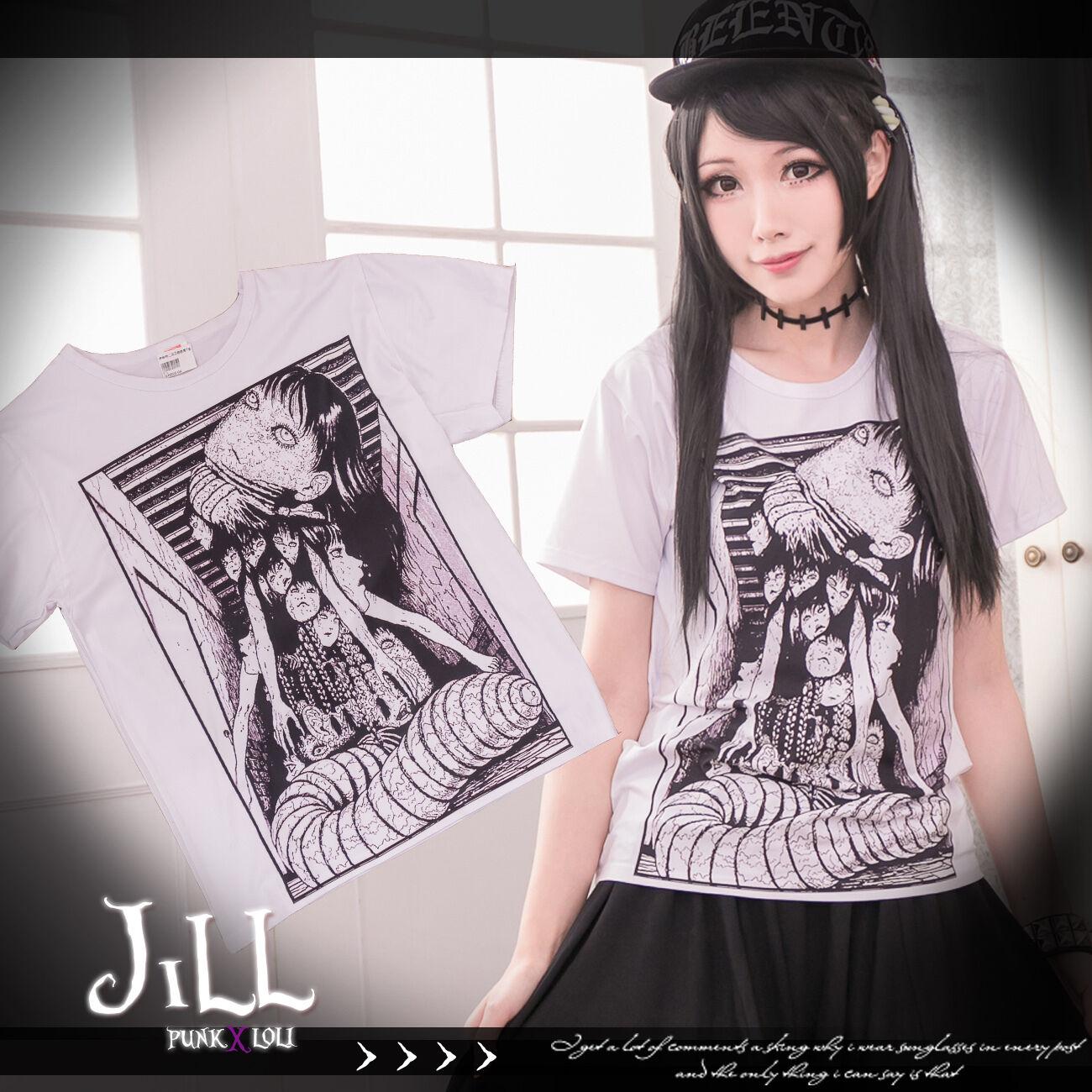 Junji Ito Horror Japan Style S-5XL Funny Men Women Unisex T-shirt 2960