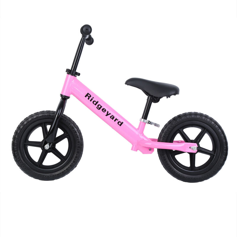 "12"" Balance Bike Classic Kids Child No-Pedal Learn To Ride P"
