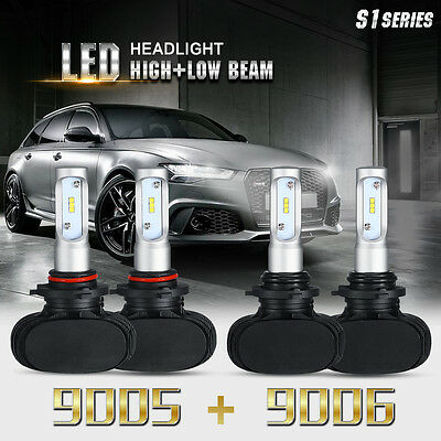 9006 + 9005 Combo 480W 48000LM CREE LED Headlight Bulbs High+Low Beam Kits 6000K