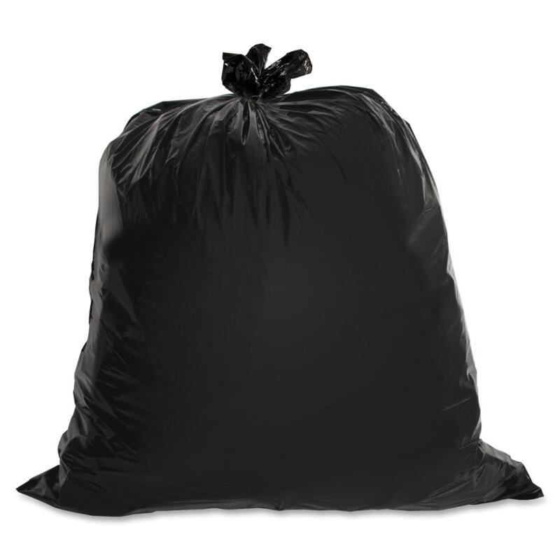Genuine Joe Heavy-Duty Trash Bags 1.5 Mil 55-60 Gallon 50/CT Black 01535