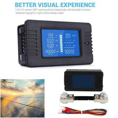 Lcd Display Dc Battery Monitor Meter 0200v Voltmeter Ammeter For Rv Car Solar