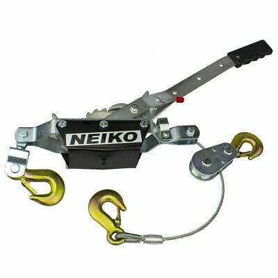 Neiko 2 Ton Hand Puller Come Along Cable Hoist 2 Gear 3 Hooks Come Along New