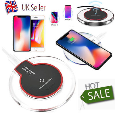 Fast Qi Wireless Charger Charging Dock Pad For Samsung S6 7 8 9 Note Iphone 8 XR