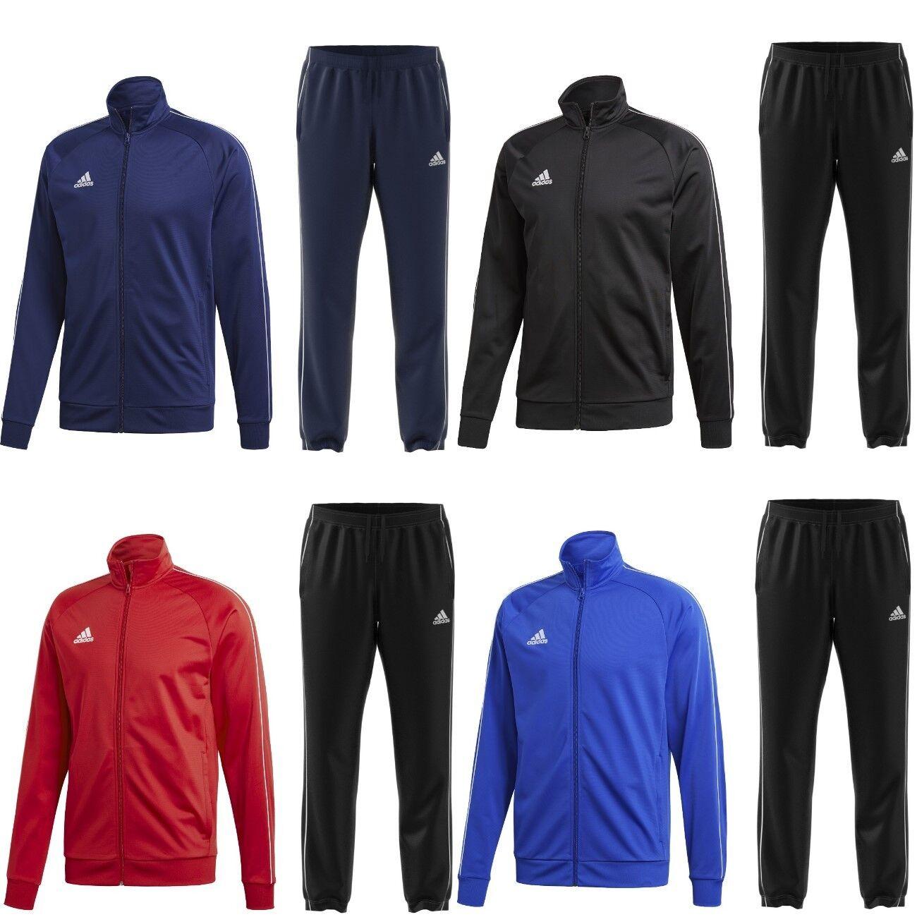 adidas Herren Trainingsanzug Sportanzug Jogginganzug schwarz blau rot Männer