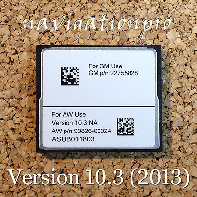 2011-2014 Cadillac Escalade ESV EXT Hybrid Navigation Map CD CF Card Version 10.