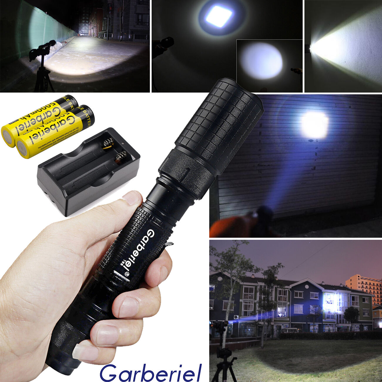 Tactical Police 150000Lumen T6 5Modes LED Flashlight Aluminum Torch Zoomable USA