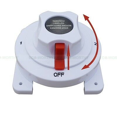 ECO Heavy Duty Marine Dual Battery Switch Selector 4 Position for Marine Boat US