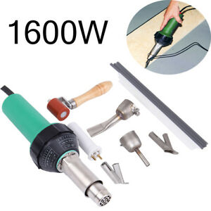 1600W Hot Air Torch Plastic Welder Welding Heat Gun Pistol Kit w/ Nozzle Roller