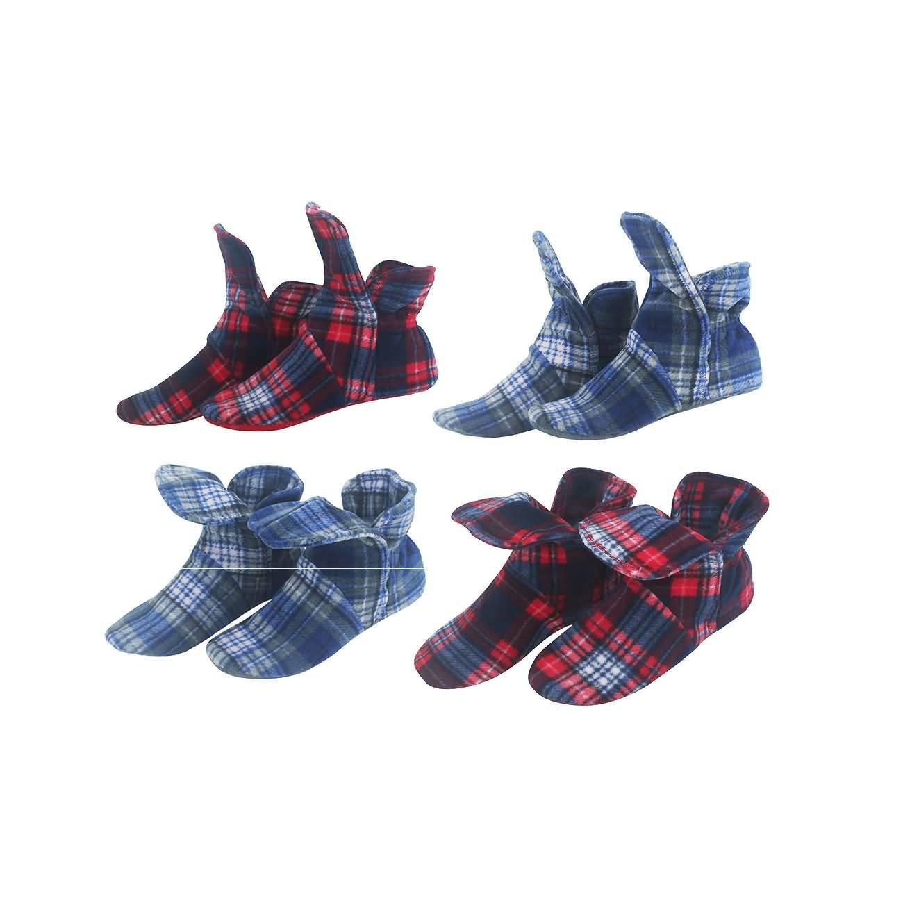 Hausschuhe Damen Stiefel warm Hüttenschuhe Haussocken mit Rutschfeste Sohle