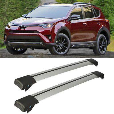 For 2013-2018 Toyota RAV4 Adjustable Aluminum Car Roof Racks Cross Bars Carrier