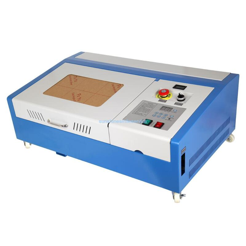 """12x8"""" 40W USB CO2 Laser Engraving Cutting Machine Engraver Cutter with 4 Wheels"""