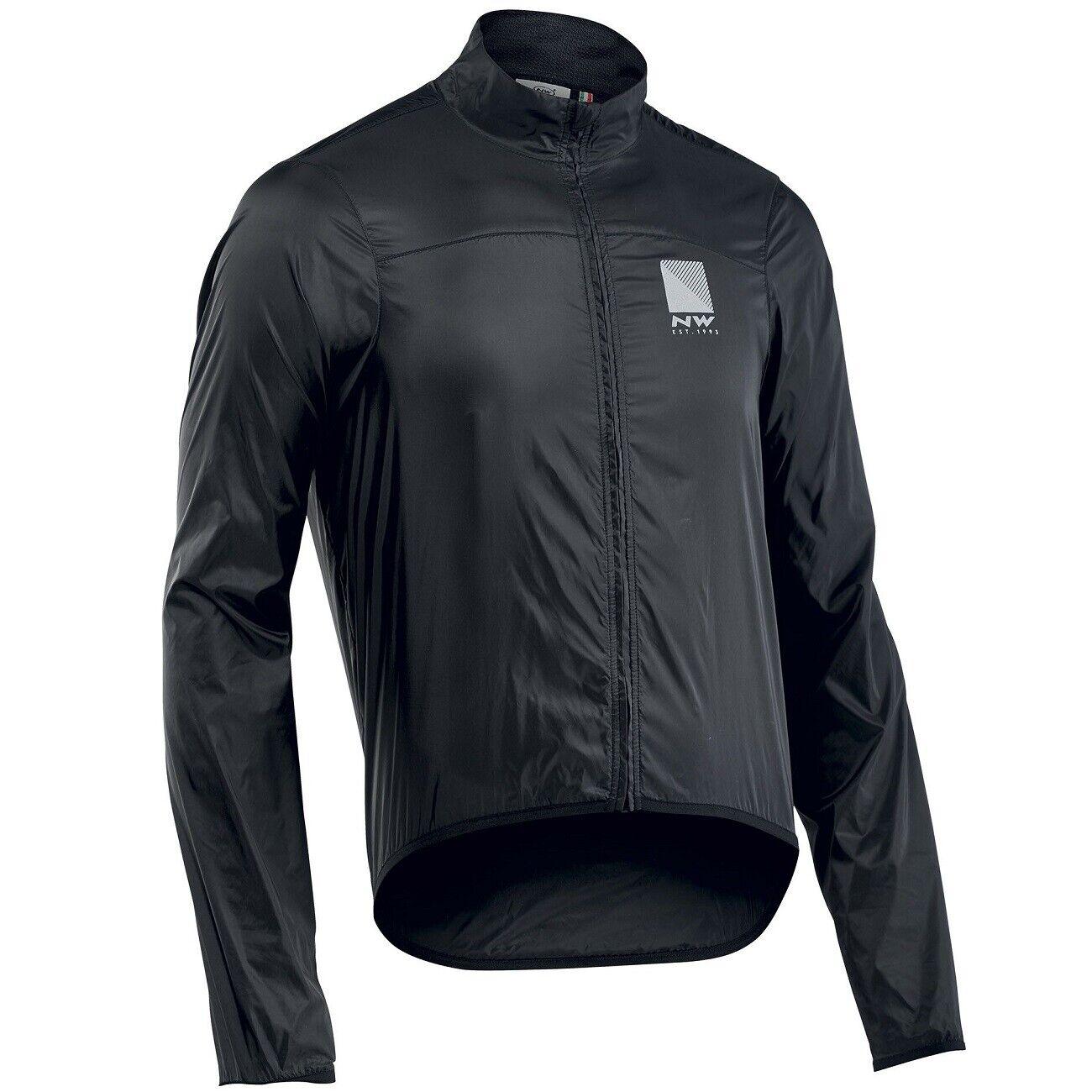 Northwave Breeze 2 Fahrrad-Regenjacke, Schwarz, Rennrad Jacke, MTB Mountainbike