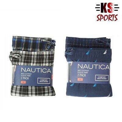 Nautica Fleece Pajama Men's Sleepwear Pants 2-Pack