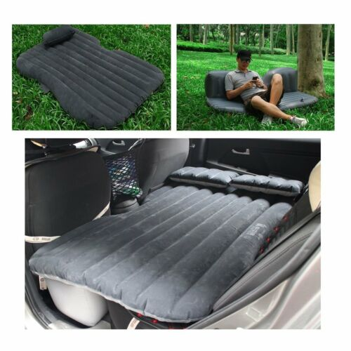 Car Air Bed Sofa Travel Inflatable Mattress Back Seat Cushion Camping Outdoor