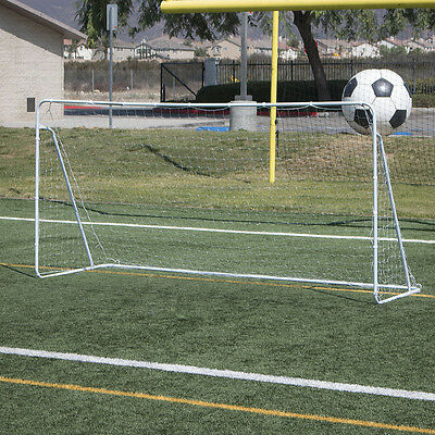 Soccer Goal 12' x 6' Football W/ Net Straps, Anchor Ball Outdoor Training Sets