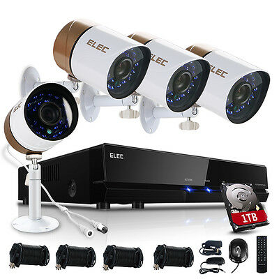 ELEC 960H 8CH Channel DVR 1500TVL Video CCTV Home Security Camera System 1TB HDD
