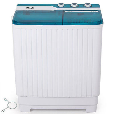 غسالة ملابس جديد Electric Mini Washer And Spin Dryer Cycle Portable Washing Machine Laundry Small
