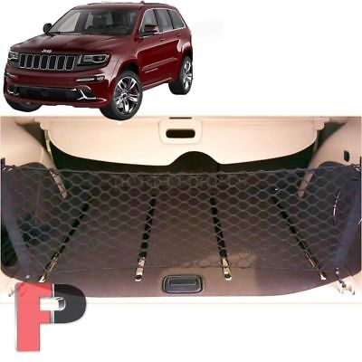 FOR 2011-2019 Jeep Grand Cherokee Cargo Net Envelope Style Trunk Rear Organizer ()
