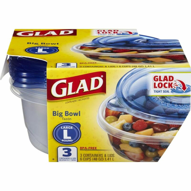 Glad Food Storage Containers - Big Bowl Container - 48 Ounce