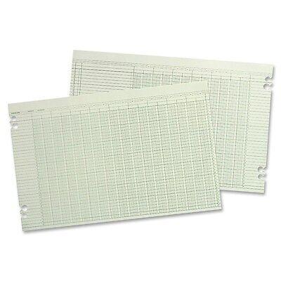 Wilson Jones Columnar Ruled Ledger Sheet - 11 X 17 Sheet Size - Green G5030