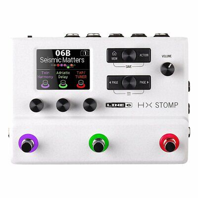 Used, Line 6 HX Stomp Compact Professional Guitar Processor Limited White for sale  Shipping to India