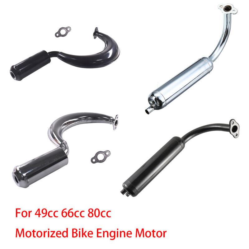80cc Motorized bike GAS ENGINE parts chrome VOODOO muffler pipe