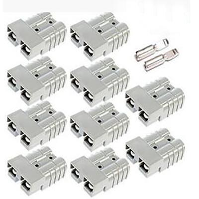 10pcs 50amp For Anderson Plug 12v 24v Carvan Charger Battery Dc Power Connector