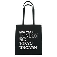 York, London, Parigi, Tokyo Ungheria - Borsa Di Iuta Borsa - Colore: Nero Nero-  - ebay.it