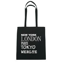 York, London, Parigi, Tokyo Werlte - Borsa Di Iuta Borsa - Colore: Nero Nero-  - ebay.it