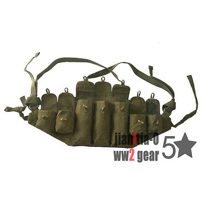 Original Surplus Chinese Army Military PLA Type 56 Chest Rig Green