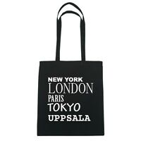 York, London, Parigi, Tokyo Uppsala - Borsa Di Iuta Borsa - Colore: Nero Nero-  - ebay.it