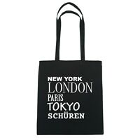 York, London, Parigi, Tokyo Frusta Fino - Borsa Di Iuta Borsa - Colore: Nero Nero-  - ebay.it