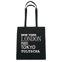 York, London, Parigi, Tokyo Tultscha - Borsa Di Iuta Borsa - Colore: Nero Nero-  - ebay.it