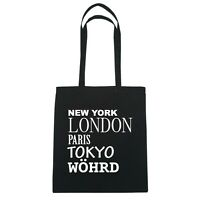 York, London, Parigi, Tokyo Woehrd - Borsa Di Iuta Borsa - Colore: Nero Nero-  - ebay.it