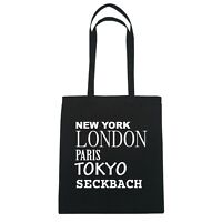 York, London, Parigi, Tokyo Seckbach - Borsa Di Iuta Borsa - Colore: Nero Nero-  - ebay.it