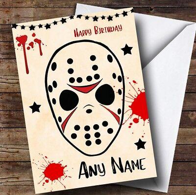Jason Voorhees Friday 13Th Personalised Birthday Card (Jason Voorhees Birthday)